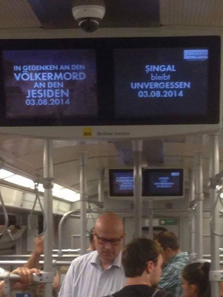Berlin subway honors Sinjar on first anniversary of Aug 3 genocide