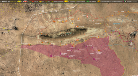 Le Carabinier map of Sinjar Shingal Iraq, May 29, 2017 - Yazidis