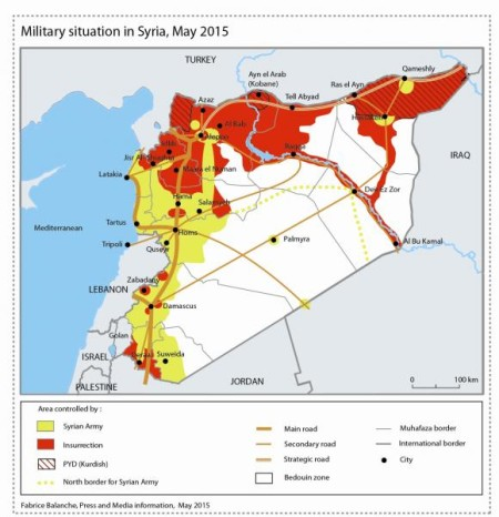 Military situation in Syria_May 2015, Fabriche Balanche