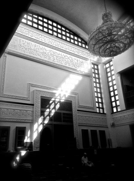 Inside Manar Mosque