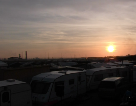 Evening in the Jungle, Calais.