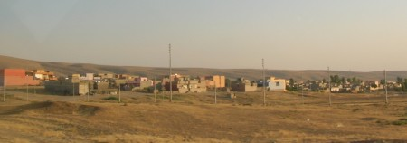 A view of Shariya with hills behind—photo: Matthew Barber/Syria Comment
