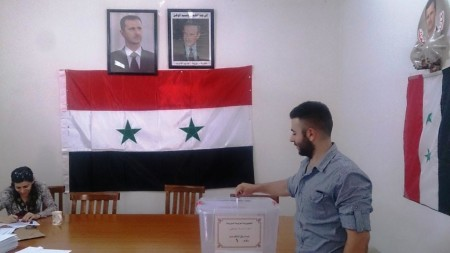 Syrians vote in presidential elections in Indian embassy