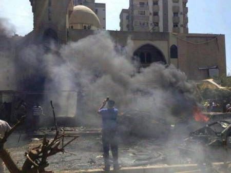 Bombed mosque in Tripoli