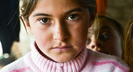 Yazidi refugee IDP girl in Kurdistan