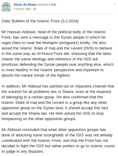 a IF statement on ISIS