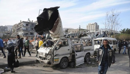 Service destroyed in Damascus car bombing